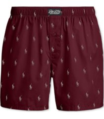 polo ralph lauren men's signature-print woven cotton boxers