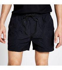 river island mens pastel tech black drawstring swim shorts