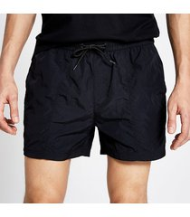 river island mens pastel tech black drawstring swim shorts