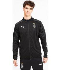 borussia mönchengladbach sideline jacket voor heren, zwart, maat l | puma