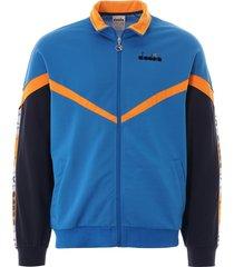 diadora offside track jacket   blue mediterranean   176080-65096