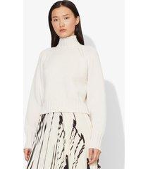 proenza schouler cashmere traveling rib knit turtleneck ivory/white l
