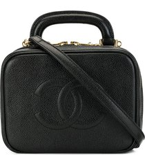 chanel pre-owned 1997 cc two-way cosmetic bag - black