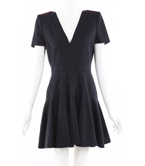 alexander mcqueen military mini dress blue sz: m