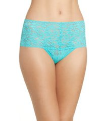 women's hanky panky retro high waist thong, size one size - blue/green
