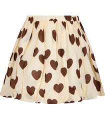 mini rodini ivory girl skirt with hearts