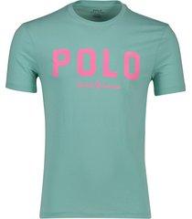 ralph lauren t-shirt turquoise ronde hals