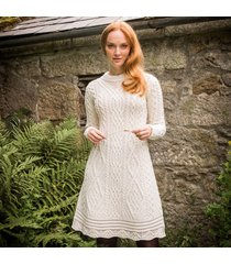 the skellig aran dress cream l