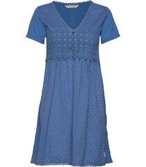 finest embroidery dress kort klänning blå odd molly