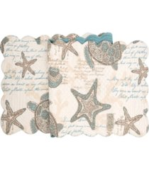 """c f home amber sands quilted runner, 14""""x 51"""""""