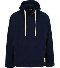 jil sander logo patch hoodie