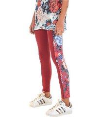 calça legging farm rio oriente floral - feminina - vermelho