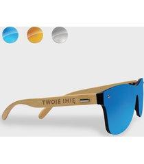 okulary przeciwsłoneczne drewniane z twoim imieniem