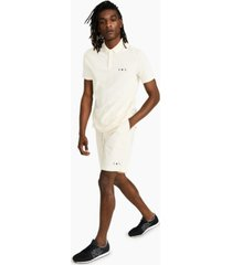 ax armani exchange men's regular-fit stretch star logo-print pique polo shirt, created for macy's