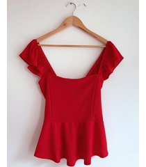 top rojo circe peplum