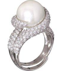 anel le diamond perola ródio