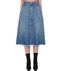 balenciaga skirt in blue denim