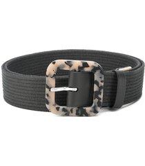 kenzo tortoiseshell buckle belt - grey