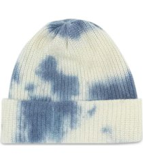 hot watchman beanie cap ivory and blue