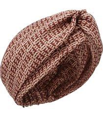 wovenfabric effect silk turban
