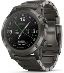 garmin unisex d2 delta premium gps aviator gray bracelet watch 30mm