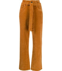 3x1 kelly belted high-waist jeans - brown
