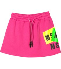 msgm msgm kids skirt with logo