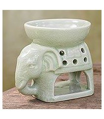 ceramic oil warmer, 'sunshine elephant' (thailand)