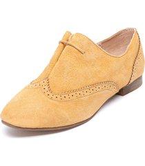 zapato oxford amarillo degas