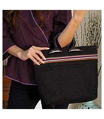 cotton handbag, 'midnight' (thailand)