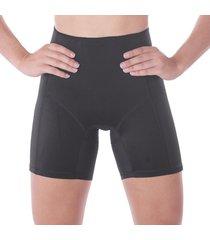 shorts modeladora cintura alta com mã©dia compressã£o em microfibra liebe . - preto - feminino - dafiti