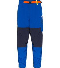 polo ralph lauren utility belted track pants - blue