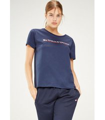 polera t-shirt chest logo azul tommy sport