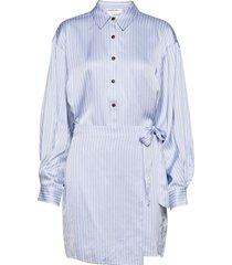 emme wrap short dress kort klänning blå designers, remix