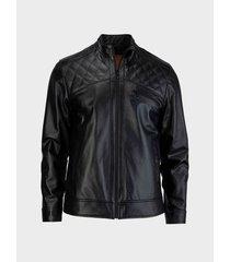 chaqueta de cuero silueta slim fit hombre 02187