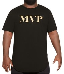 mvp collections men's big & tall mvp curved hem tee