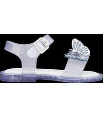 sandalias malissa glitter plata mini mar sandal fly bb