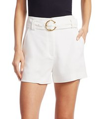 clive belted a-line shorts