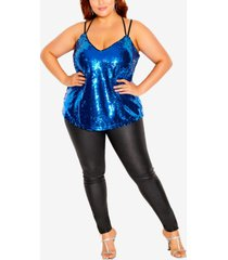 city chic trendy plus size glimmer top