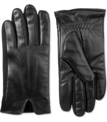 isotoner signature men's stretch leather gloves