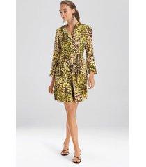 natori ombre animale, silky soft dress, women's, green, size 16 natori