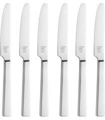 faca sobremesa dinner aço inox 6 peças polido zwilling j.a. henckels