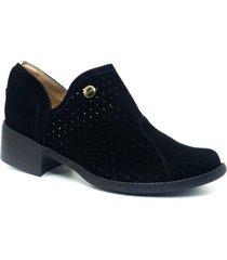 zapato  botin zavatty negro para mujer, modelo ta267