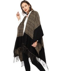 poncho eclipse beige - calce oversize