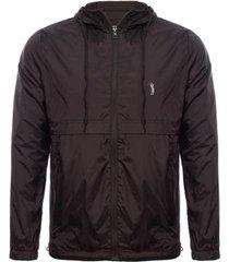 jaqueta aleatory recorte contraste masculina