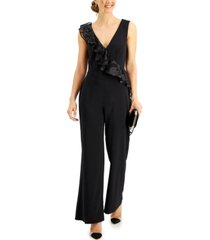 connected embellished-ruffle jumpsuit