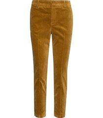 pzclara pant byxa med raka ben gul pulz jeans