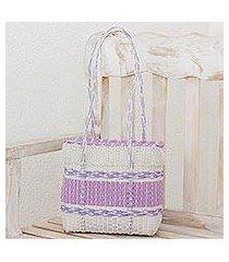 recycled plastic shoulder bag, 'sweet picnic' (guatemala)