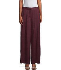 textured wide-leg pants