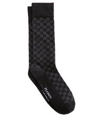 jos. a. bank check mid-calf socks, 1-pair